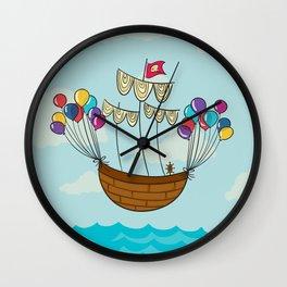 Navicula Flotante Wall Clock