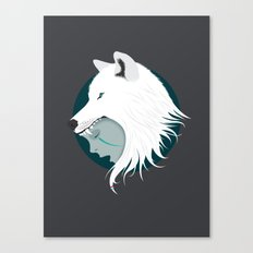 Boy Cries Wolf (White) Canvas Print
