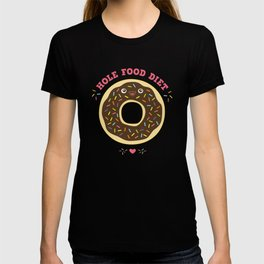 chocolate donut hole food diet funny gift T-shirt