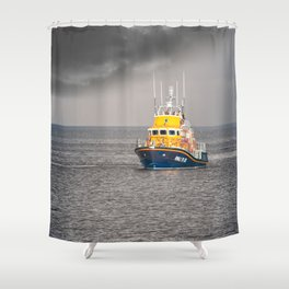 RNLI Lifeboat Shower Curtain