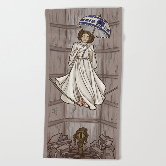 Leia's Corruptible Mortal State Beach Towel