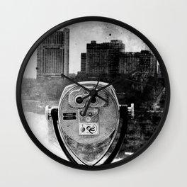 Niagara Falls Noir Wall Clock