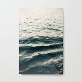 Indigo Waves Metal Print