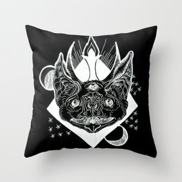Batphomet (black) Throw Pillow