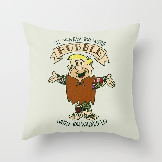 RUBBLE x SWIFT COLLAB Throw Pillow