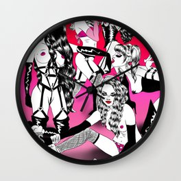 Power Girl Squad Wall Clock