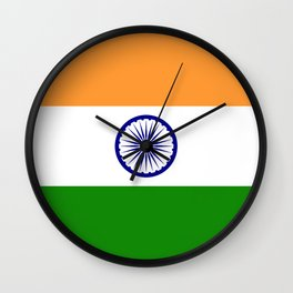India: Indian Flag Wall Clock