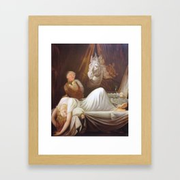 Donald Trump as incubus Framed Art Print