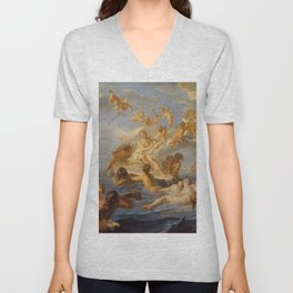 Noel-Nicolas Coypel - Birth of Venus Unisex V-Neck