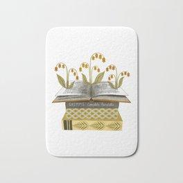 floral reading i Bath Mat