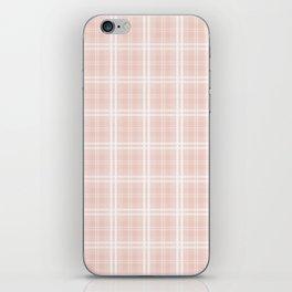 Spring 2017 Designer Color Pale Pink Dogwood Tartan Plaid Check iPhone Skin