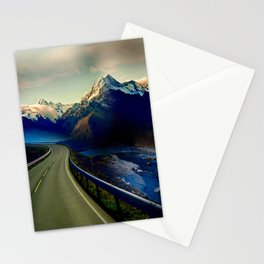 Long Winter Road Stationery Cards