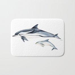 Striped dolphin Bath Mat