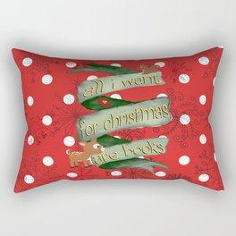 Christmas books Rectangular Pillow