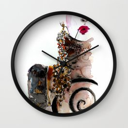 Red lips fashion Wall Clock