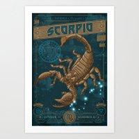 Zodiac 8: Scorpio Art Print