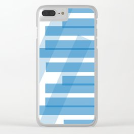 Electric Blue Slats Clear iPhone Case