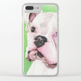 The White Boxer Clear iPhone Case