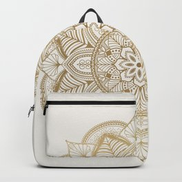 Mandala Beige Creamy Pattern 1 Backpack