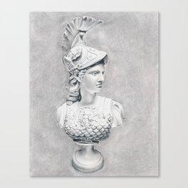 Athena Bust Sculpture Canvas Print