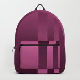 Burgundy , striped Backpack