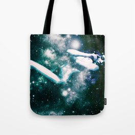 Teal Turquoise Blue Galaxy Body Tote Bag