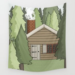 Deep in the Forest Illustration Wall Tapestry