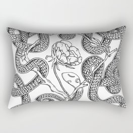 Snake Rune Rectangular Pillow