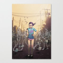 Everything I touch gets ruined Canvas Print