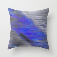 large Throw Pillows featuring large by Fun Artist