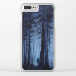 Slenderman Clear iPhone Case