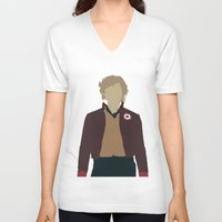les miserables V-neck T-shirts featuring Enjolras - Aaron Tveit - Les Miserables Minimalist design by Hrern1313