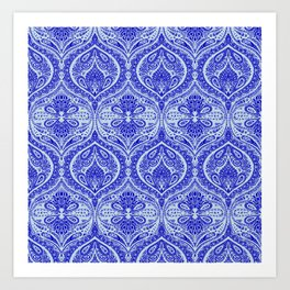 Simple Ogee Blue Art Print