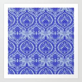 Simple Ogee Blue Art Print