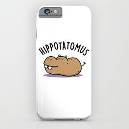 Hippotatomus Cute Hippo Pun iPhone Case