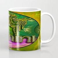 astrology Mugs featuring Gemini Zodiac Sign Astrology by CAP Artwork & Design