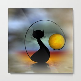 just meet me at moonrise Metal Print