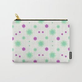 Stars Motif Multicolored Pattern Carry-All Pouch