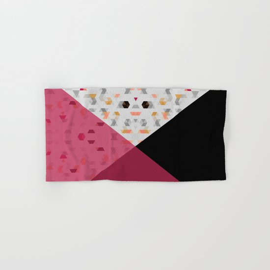 Little Triangles with Black and Pink Hand & Bath Towel