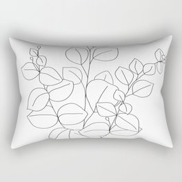 Minimalistic Eucalyptus  Line Art Rectangular Pillow