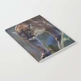 The Mountain King - Cougar Wildlife Art Notebook