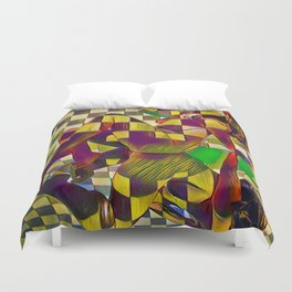 6097-KMA Checkerboard Nude Sitting on Mirror Duvet Cover