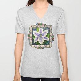 Stargazer Lily in the Lilac Verse Unisex V-Neck