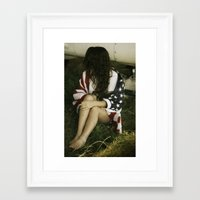 american Framed Art Prints featuring American  by Blurredsoul