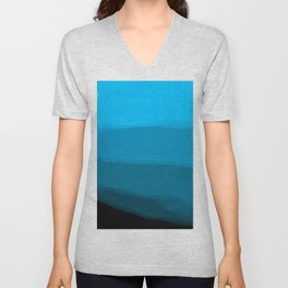 Ombre in Blue Unisex V-Neck