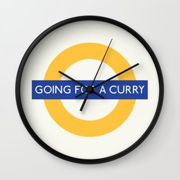 Going For A Curry   TFL Wall Clock