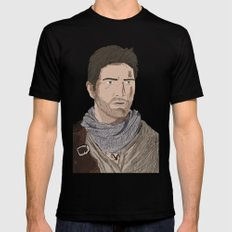 Nathan Drake (Uncharted) SMALL Black Mens Fitted Tee