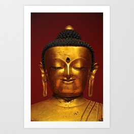 Golden Buddha for small print sizes (great for phone covers & notebooks) Art Print