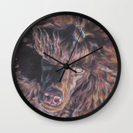 poodle dog portrait from an original painting by L.A.Shepard Wall Clock
