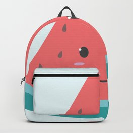 Cute Pastel Watermelon (Blue Background) Backpack
